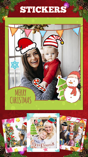 christmas frames stickers create new year cards