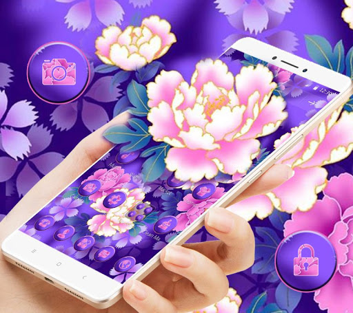 Bloom Purple Pretty Flower Theme