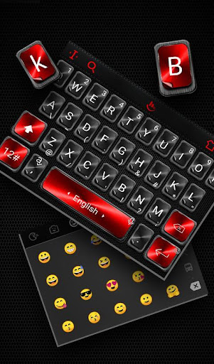 Black Red Keyboard Theme cheat hacks