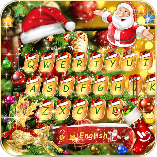Gold Christmas Santa Keyboard Theme Hack Cheats Unlimited Resources