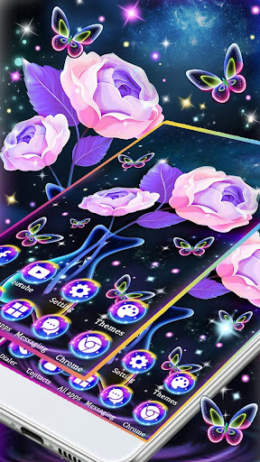 Galaxy Neon Rose Themes Hd Wallpapers 3d Icons Hack Cheats That