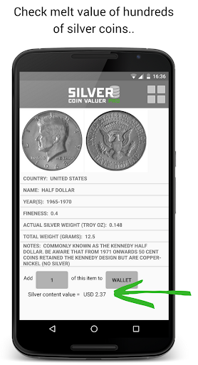 Silver Coin Valuer PRO cheat hacks