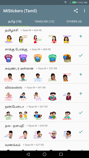 MiStickers - Tamil Stickers for WhatsApp Hack Cheats Android