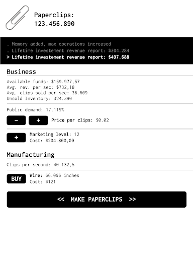 Universal Paperclips Clicker Game Hack Cheats Unlimited