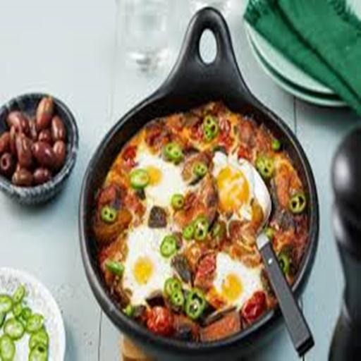 Recipes of Ratatouille with Baked Eggs Tutorials Android iOS