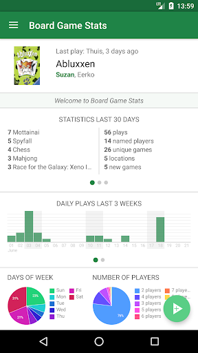 Board Game Stats: Play tracking for tabletop games hack tool