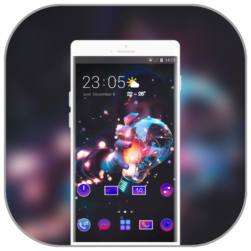 Tech theme for Oppo RX17 neo launcher Hack Cheats Online