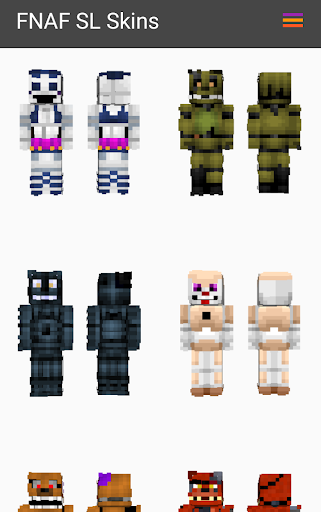 Skins from FNaF Sister Location for Minecraft PE Hack Cheats